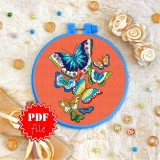 Cross stitch pattern «pdf-T-0064 Butterflies»