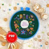 Cross stitch pattern «pdf-T-0094 Happy Birthday 7»