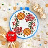 Cross stitch pattern «pdf-T-0144 Flower Ornament»
