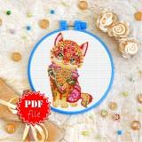 Cross stitch pattern «pdf-T-0197 Mandala Kitty»