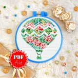 Cross stitch pattern «pdf-T-0259 Flower Balloon»