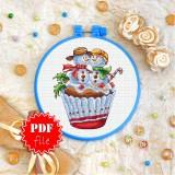 Cross stitch pattern «pdf-T-0275 Christmas Cake»
