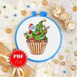 Cross stitch pattern «pdf-T-0284 Xmas Tree Cake»