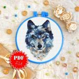 Cross stitch pattern «pdf-T-0285 Wolf»