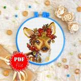 Cross stitch pattern «pdf-T-0297 Autumn Fawn»