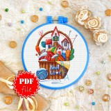 Cross stitch pattern «pdf-T-0308 Knit Love»