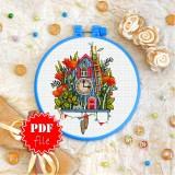 Cross stitch pattern «pdf-T-0321 Clock»