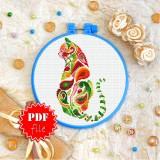 Cross stitch pattern «pdf-T-0325 Mandala Cat»