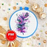 Cross stitch pattern «pdf-T-0362 Bright Feather»