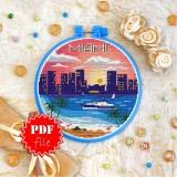 Cross stitch pattern «pdf-T-0413 Miami»