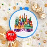 Cross stitch pattern «pdf-T-0443 Spain»