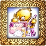 Magnet bead embroidery kit «M-0002 Teddy Bear Bringing Gifts»