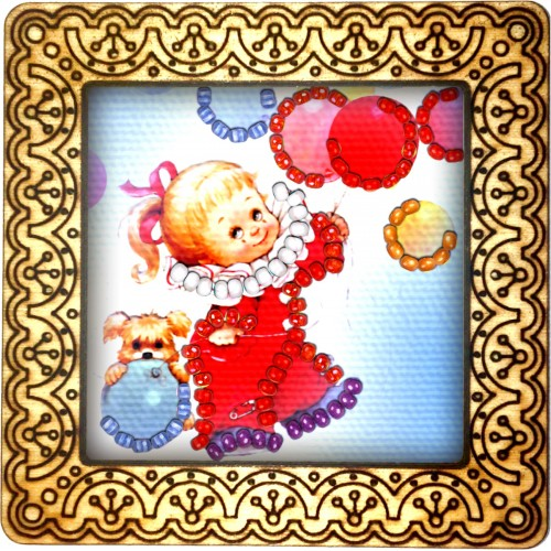 Magnet bead embroidery kit «M-0072 Playing with Ballons»