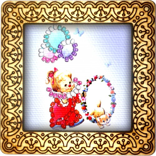 Magnet bead embroidery kit «M-0082 Clown in Red»