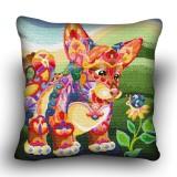 Pillow cross stitch kit «H-0009 Curious Corgi»