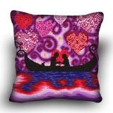 Pillow cross stitch kit «H-0039 Gondola Courtship»