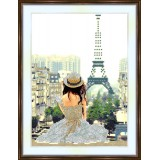 Bead embroidery kit «A-0004 Viewing the Eiffel Tower»