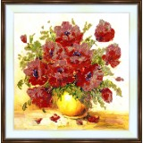 Bead embroidery kit «A-0014 Vibrant Poppies»