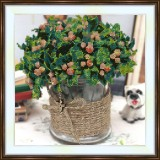 Bead embroidery kit «A-0024 Green Bouquet»