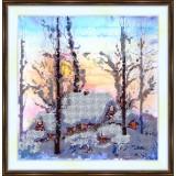 Bead embroidery kit «A-0034 Winter Stillness»