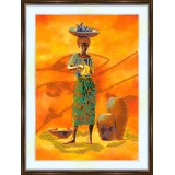 Bead embroidery kit «A-0055 African Woman»
