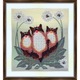Bead embroidery kit «A-0085 Kitties in Dandelions»