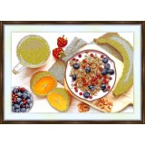 Bead embroidery kit «A-0095 Fruit 'n Cereal Breakfast»