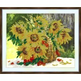 Bead embroidery kit «A-0105 Sunflowers Overflowing the Basket»