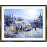Bead embroidery kit «A-0115 Cozy House in Winter Forest»