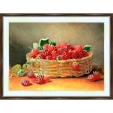 Bead embroidery kit «A-0125 Basket of Raspberries»