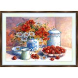 Bead embroidery kit «A-0175 The Sweet Cherries»