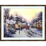 Bead embroidery kit «A-0185 After the First Snow»