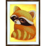 Bead embroidery kit «A-0265 Baby Raccoon 2»