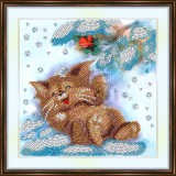 Bead embroidery kit «A-0286 Laughing Kitten»
