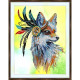 Bead embroidery kit «A-0316 Native American Fox»