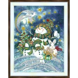 Bead embroidery kit «A-0356 Holiday Snowmen»