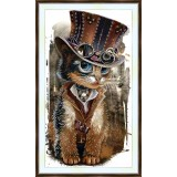 Bead embroidery kit «A-0386 Dapper Mr. Kitty»