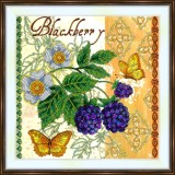 Bead embroidery kit «A-0426 Blackberry»