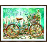 Bead embroidery kit «A-0436 Life is a Beautifl Ride»