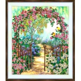 Bead embroidery kit «A-0446 Garden Invitation»
