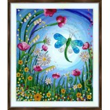 Bead embroidery kit «A-0456 The Dragonfly»