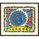 Bead embroidery kit «A-0470 Peacock on the Hill»