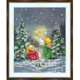Bead embroidery kit «A-0480 Caroling to the Stars»