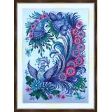 Bead embroidery kit «A-0490 Fantasy Blue Bird»