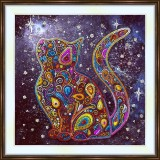 Bead embroidery kit «A-0510 Starlit Kitty»