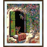 Bead embroidery kit «K-0004 Window Open to Summer Gifts»