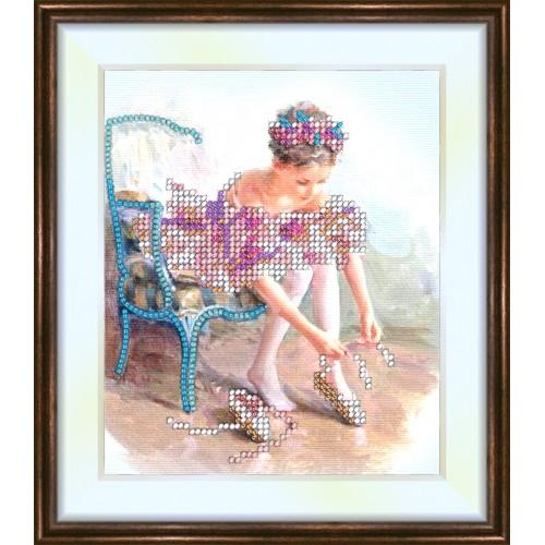 Bead embroidery kit «K-0044 Ballet Dancer»