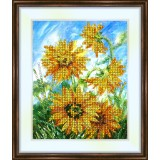 Bead embroidery kit «K-0054 Sunflowers in the Breeze»