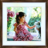 Bead embroidery kit «K-0084 Friends Sitting at the Window»