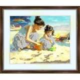 Bead embroidery kit «K-0094 Playing at the Shore»